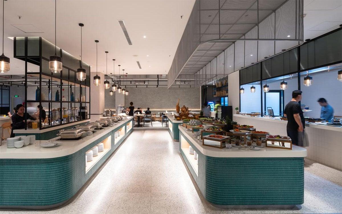Khu nhà hàng dành cho khách dùng bữa sáng
