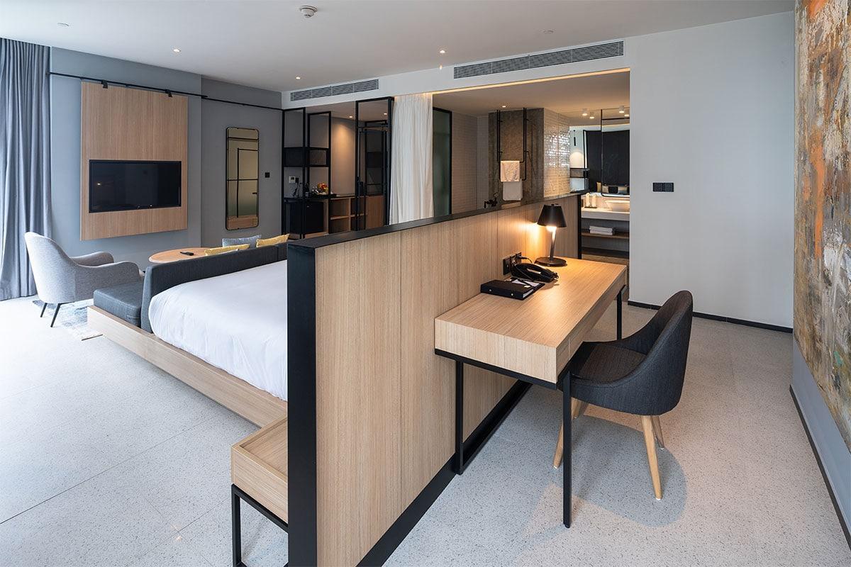 Phòng ngủ mang phong cách hiện đại, sang trọng