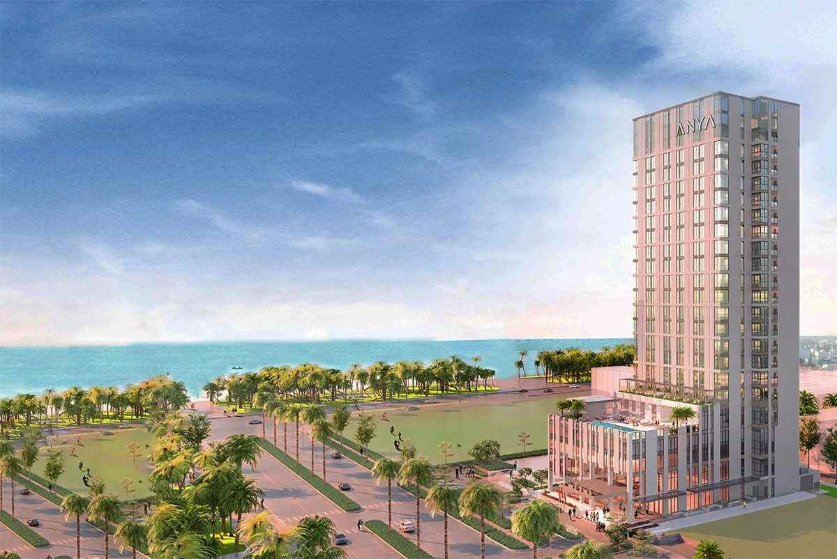 Khách sạn Anya có vị trí ngay bên bãi biển Quy Nhơn